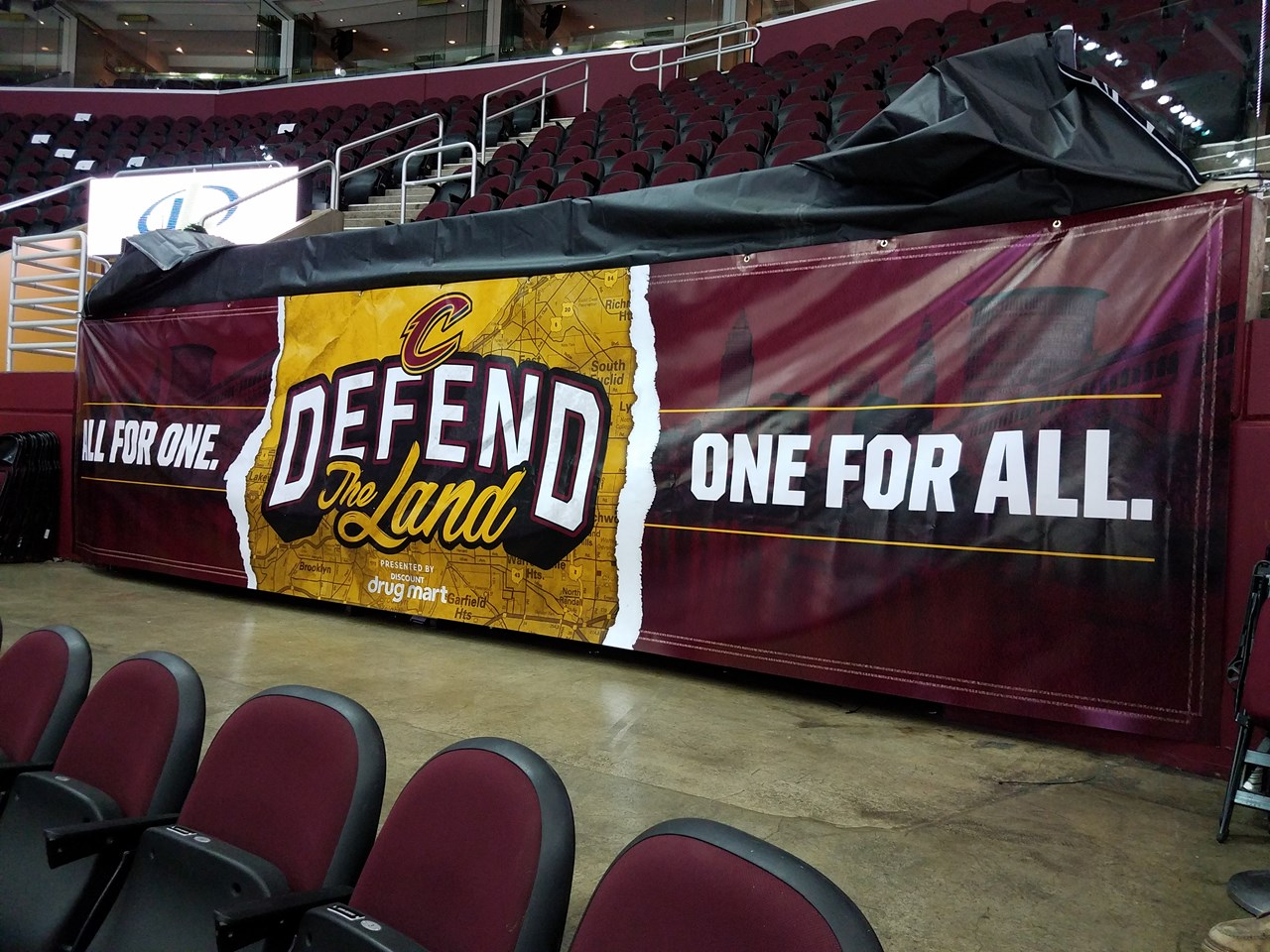 Sports-Facility- Cavs Playoffs Defend the Land